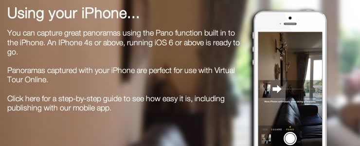Using your iPhone with Virtual Tour Online